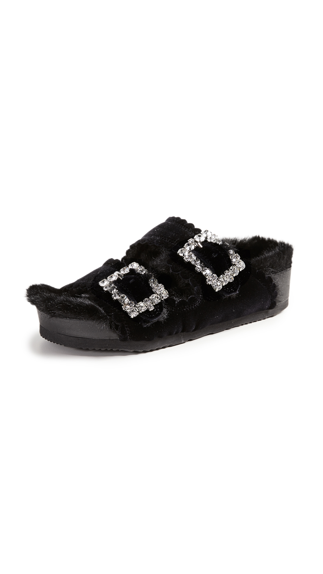 Suecomma Bonnie Jewel Detail Sandals - Black