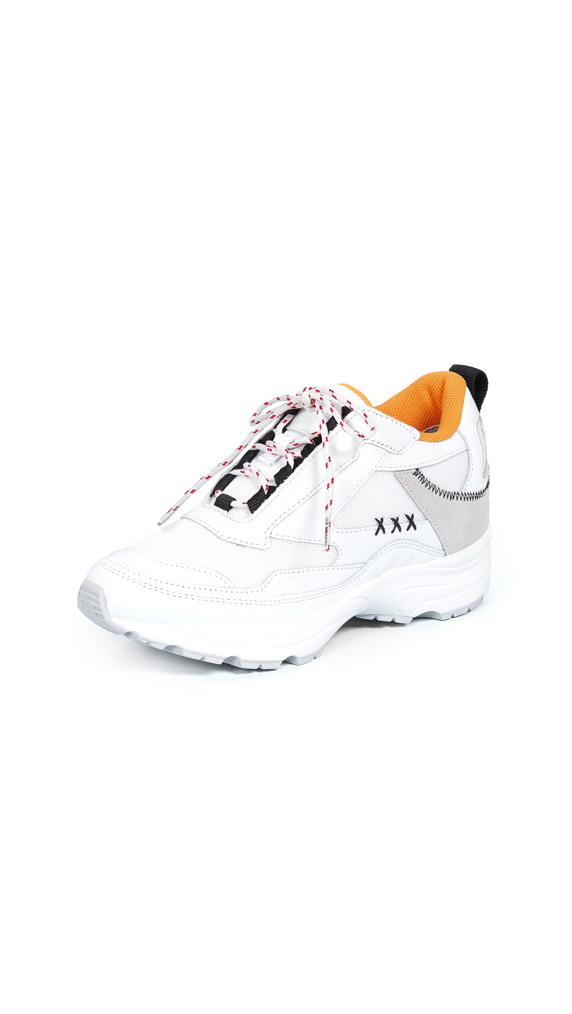 Suecomma Bonnie Colorblock Sneakers In White/White