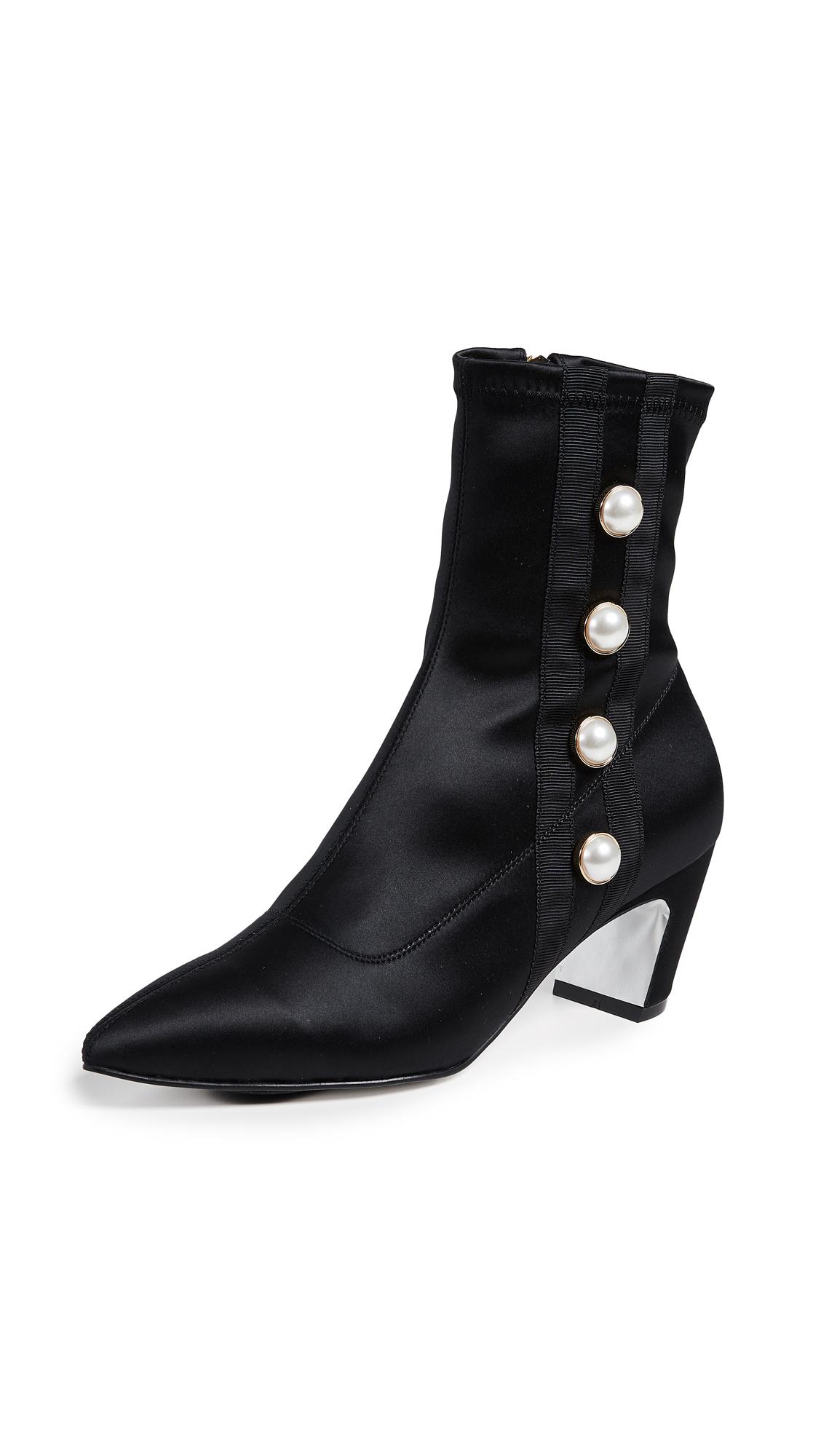 Suecomma Bonnie Pearl Ankle Boots - Black
