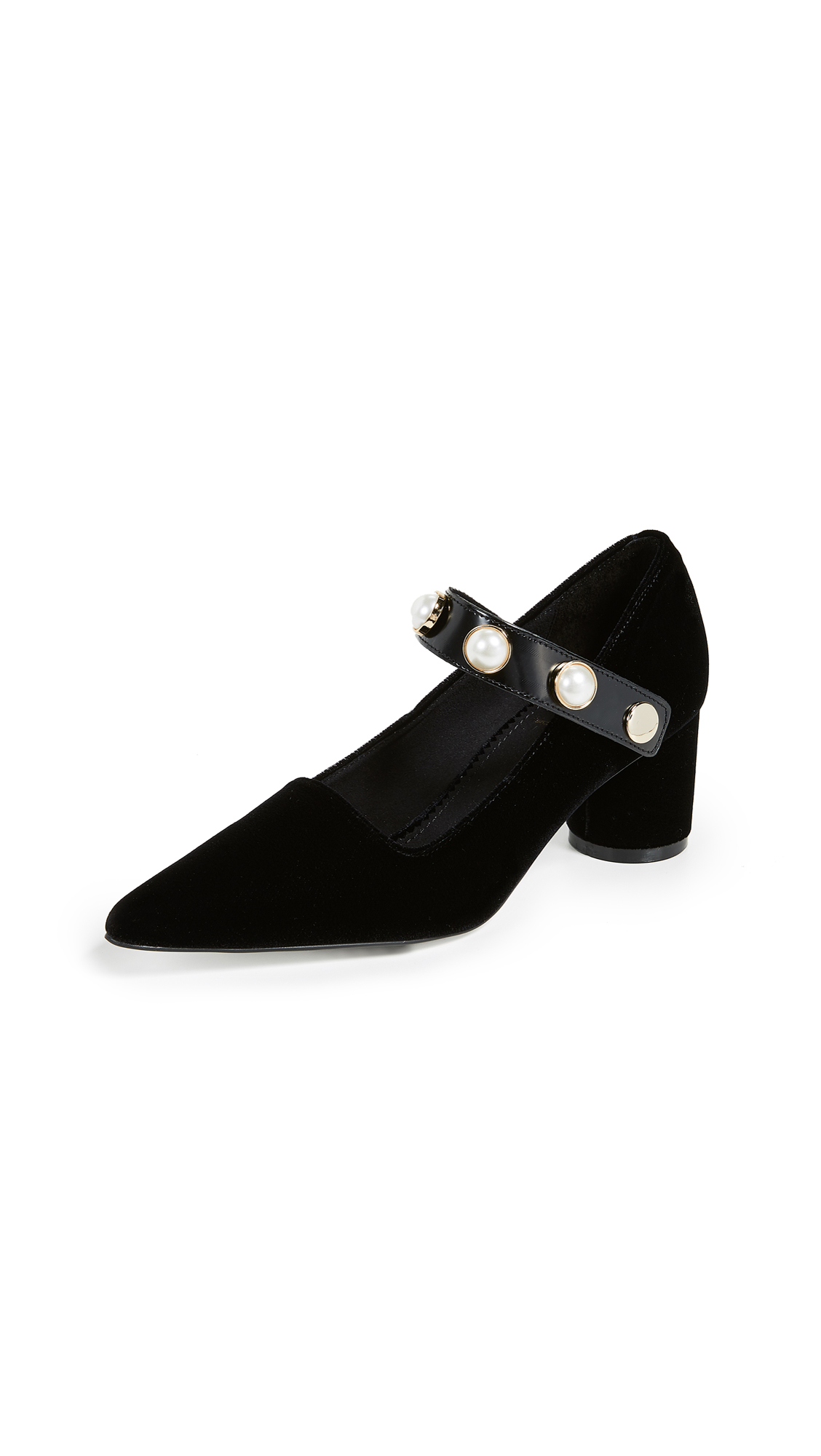 Suecomma Bonnie Jewel Strap Detailed Pumps - Black