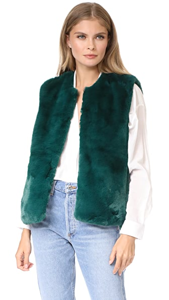 Suncoo Evita Faux Fur Vest at Shopbop