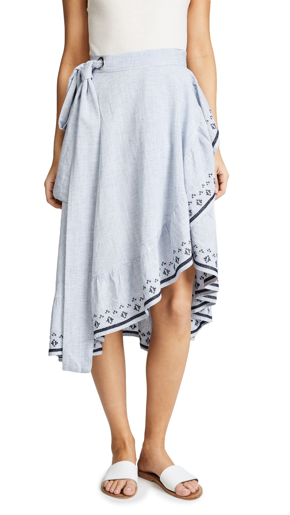 Suncoo Floriane Skirt In Bleu