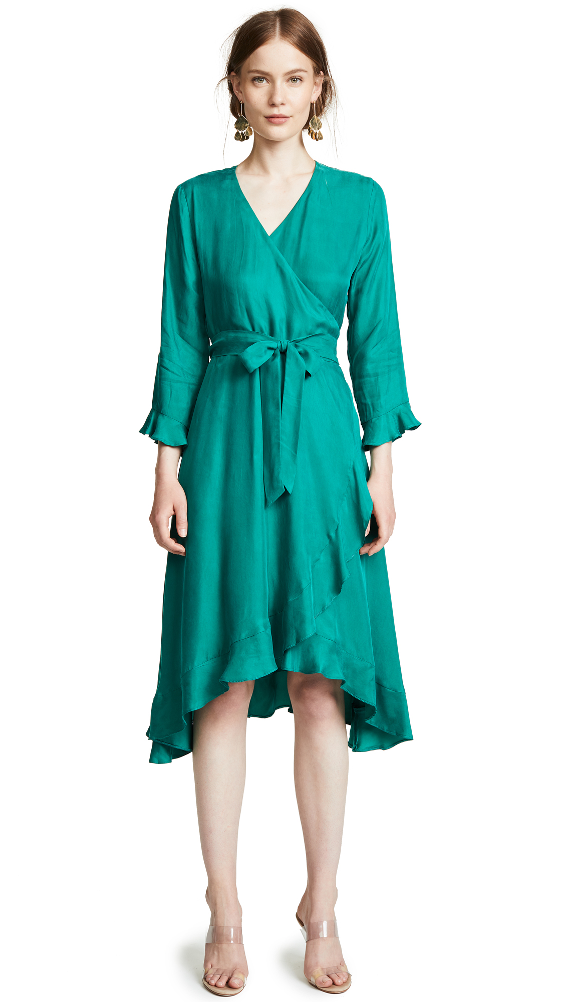 Suncoo Clarisse Robe Dress In Vert