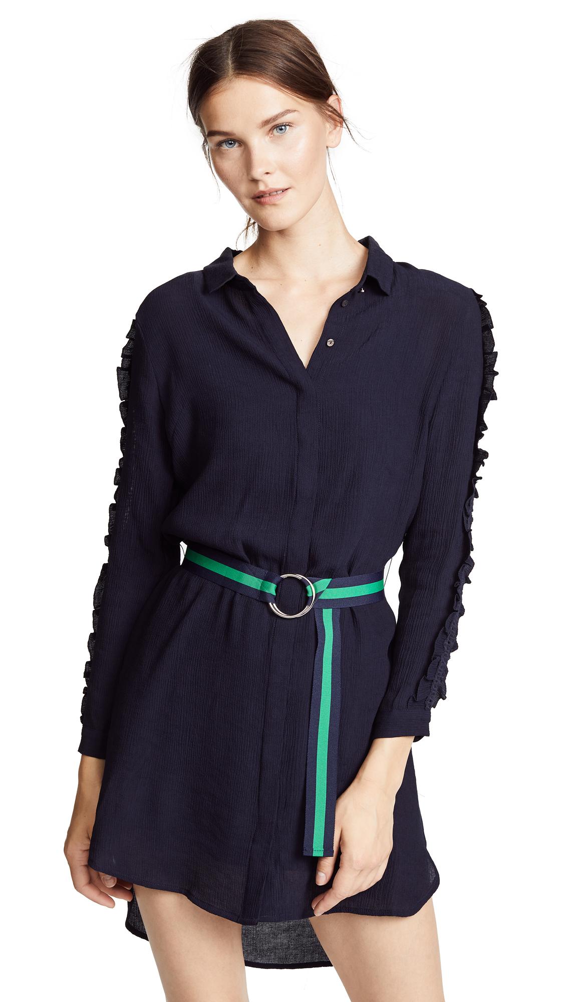 SUNCOO Cora Dress in Bleu Nuit