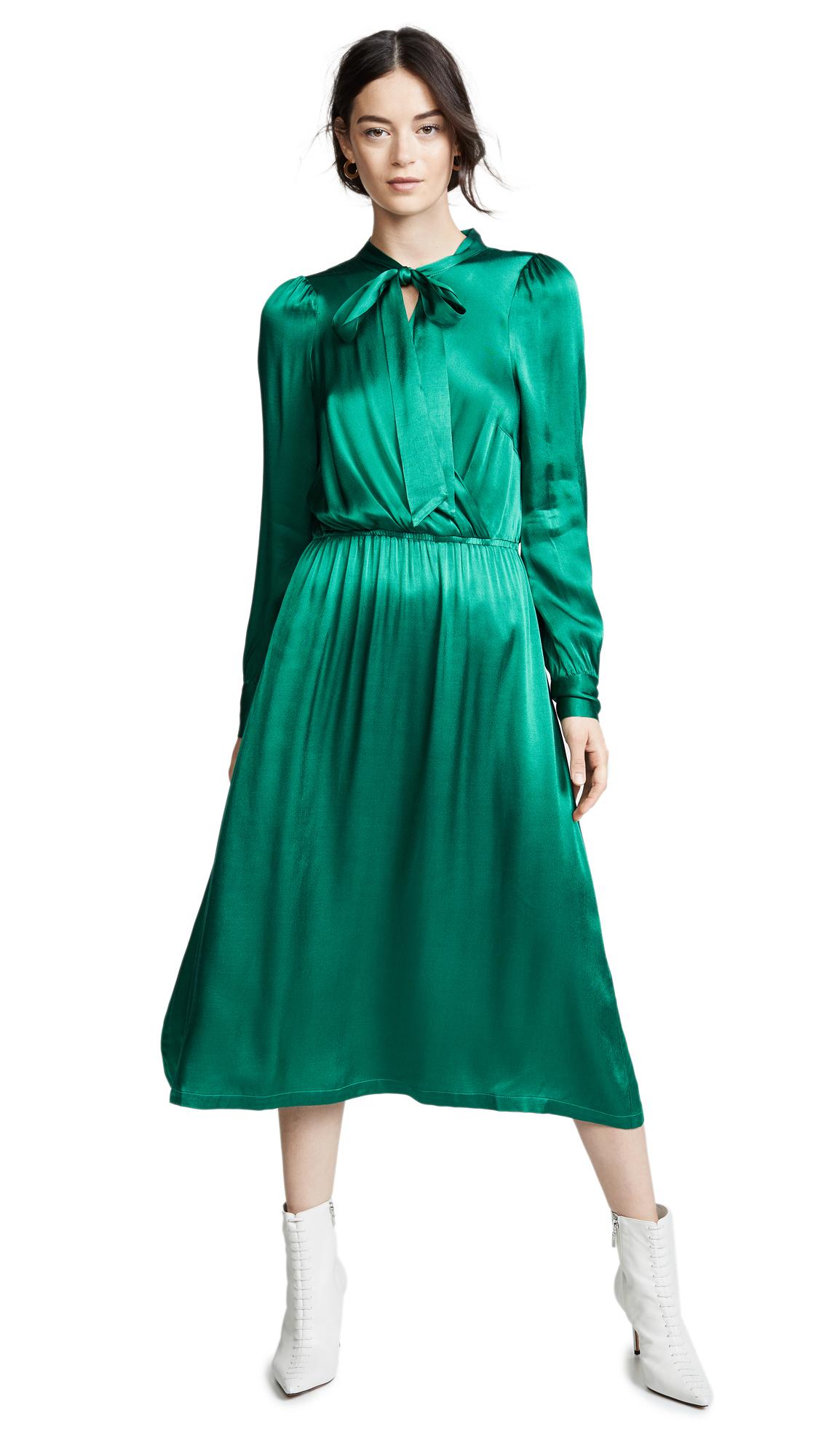 Suncoo Cosette Dress In Green
