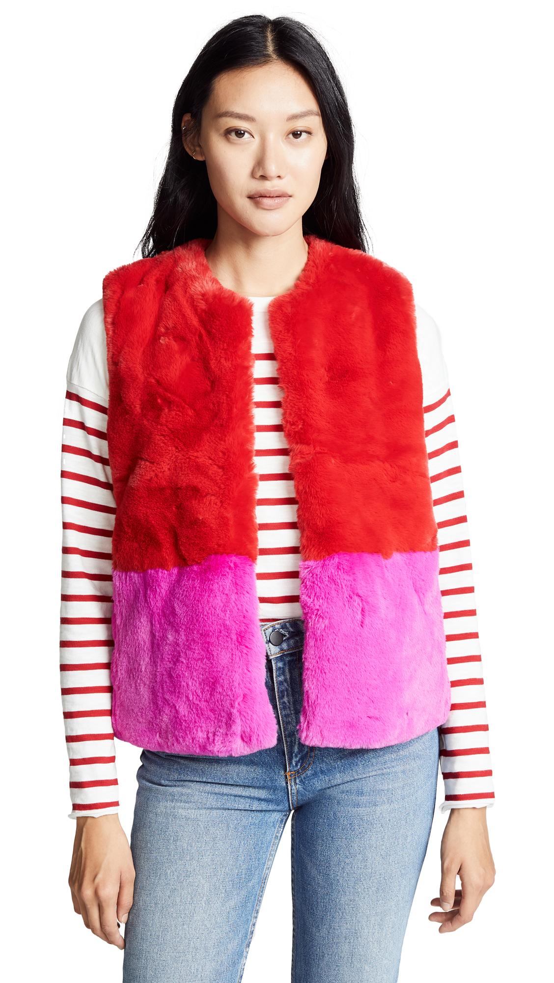 SUNCOO Eva Vest in Red