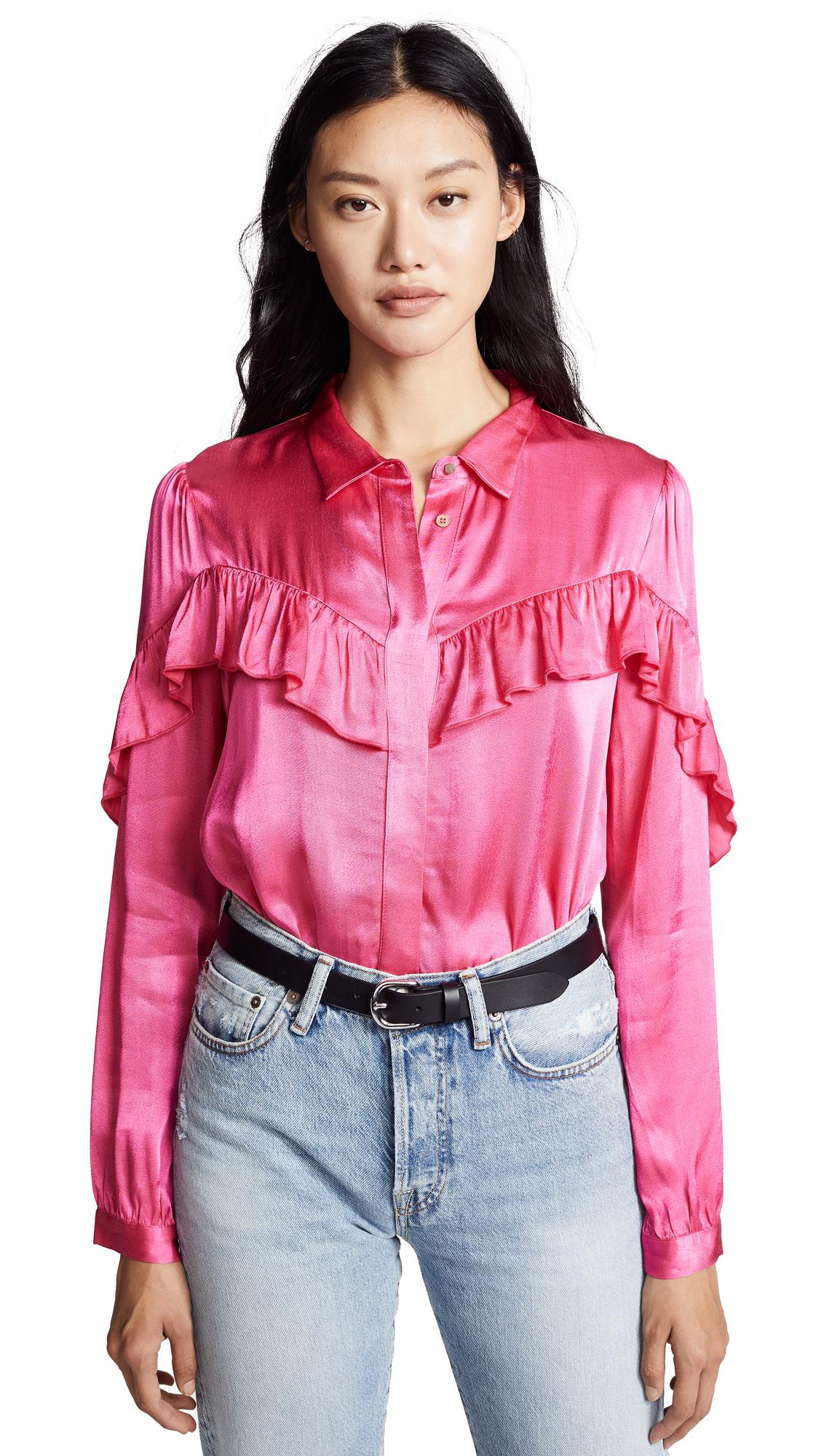 SUNCOO Lala Shirt in Fuchsia