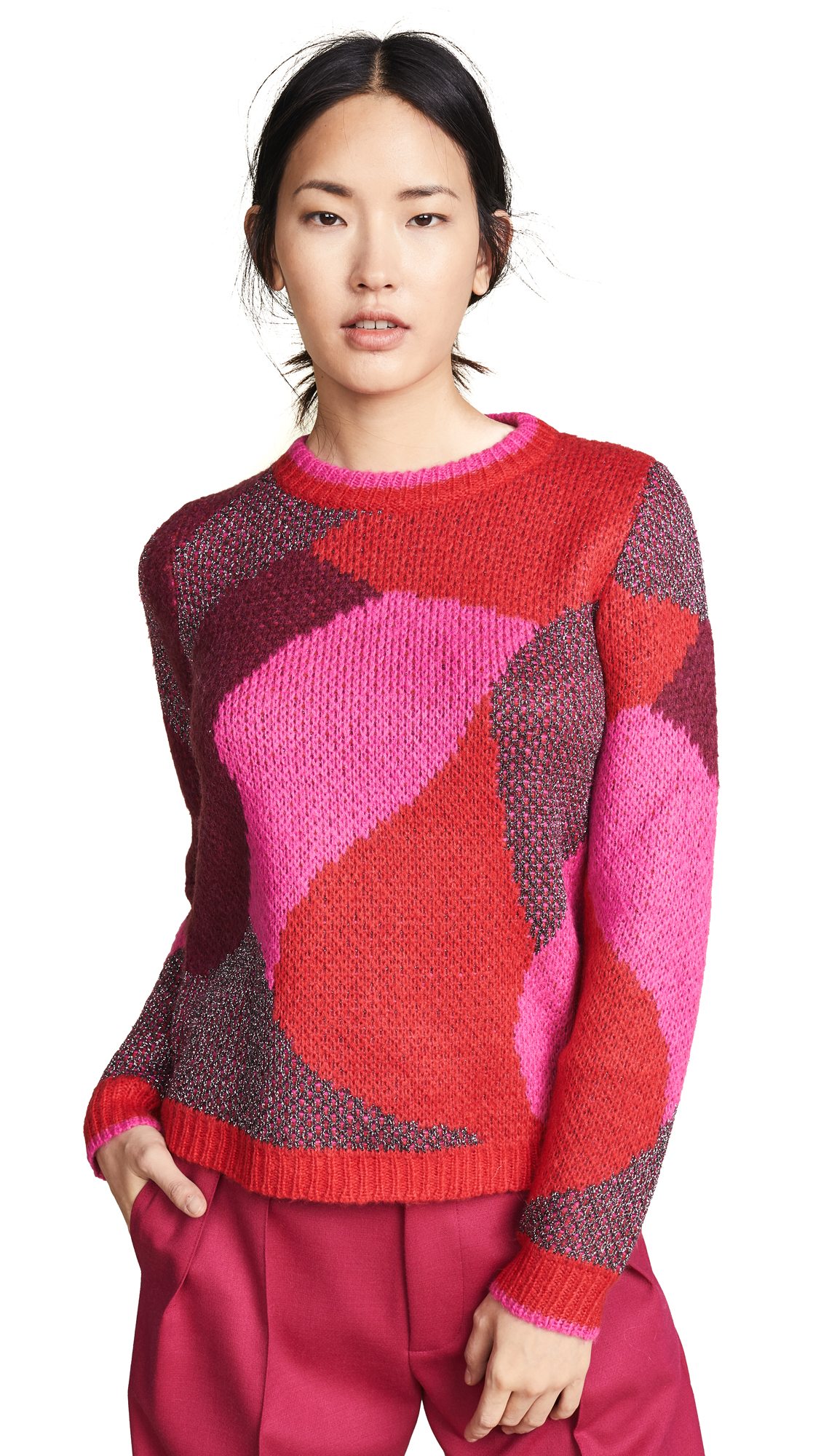 Suncoo Priti Sweater In Red