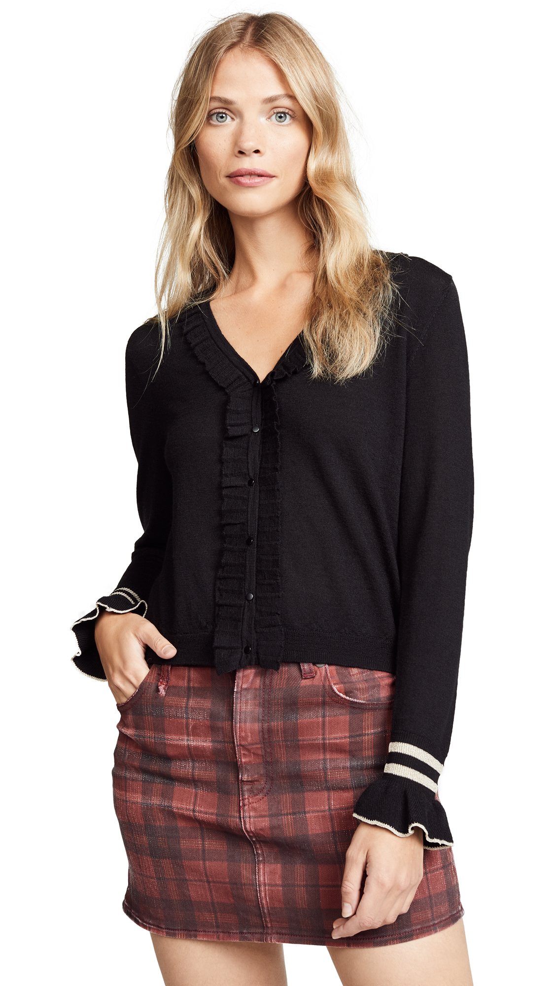 Suncoo Gama Cardigan In Black
