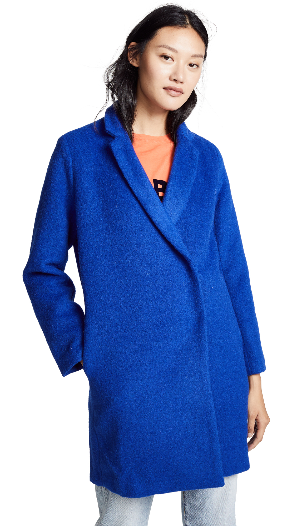 Suncoo Eugenie Coat In Blue Klein