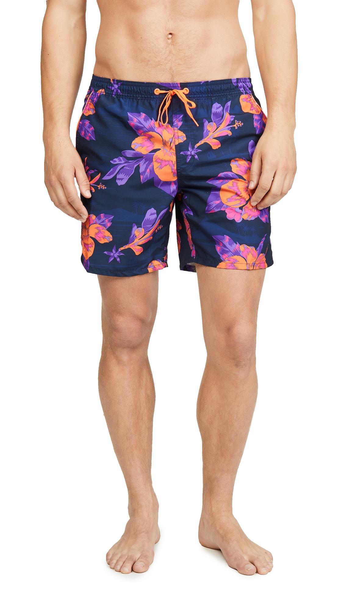 5fedc1bf3d SUNDEK | SUNDEK Floral Swim Shorts with Elastic Waist | Goxip