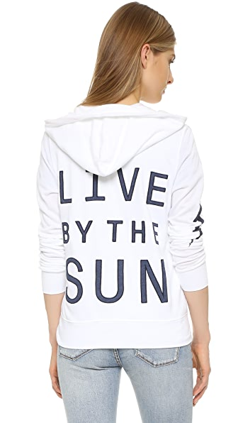 SUNDRY Live By The Sun Zip Hoodie