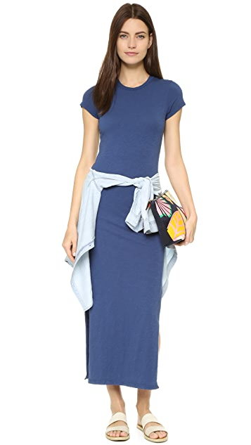 SUNDRY Slit Tee Dress