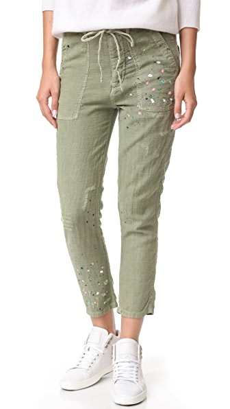 SUNDRY Paint Splashes Drawstring Pants