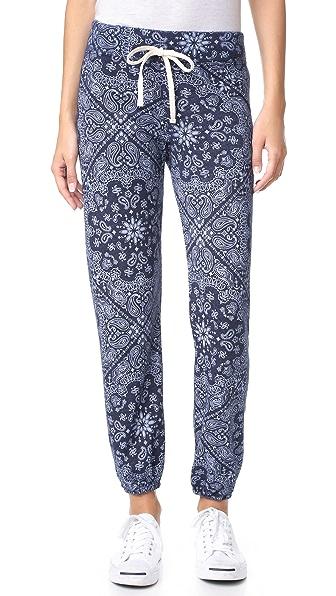 SUNDRY Bandana Pattern Sweatpants - Navy