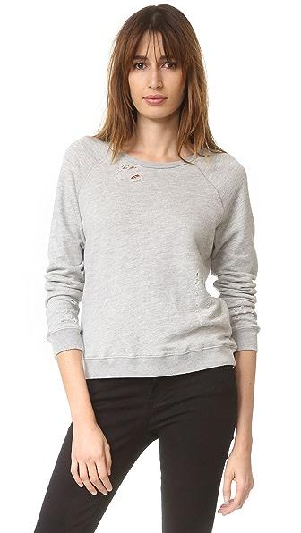 SUNDRY Ripped Sweatshirt