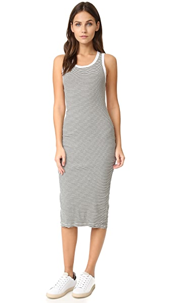 SUNDRY Stripe Midi Dress