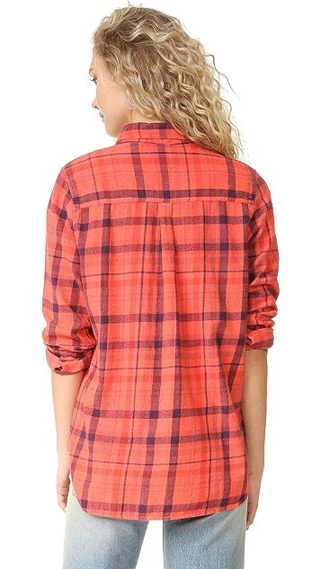 SUNDRY Plaid Basic Shirt