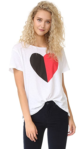 SUNDRY Split Heart Loose Tee