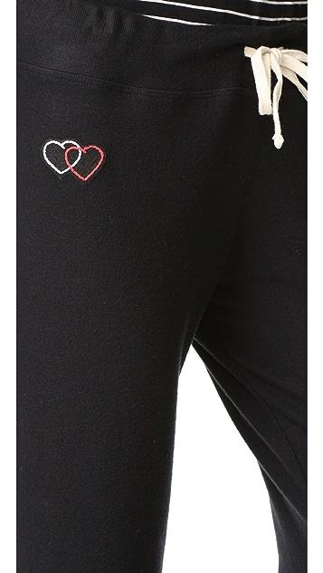 SUNDRY Heart Patch Sweatpants
