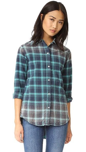 SUNDRY Oversized Distressed Shirt