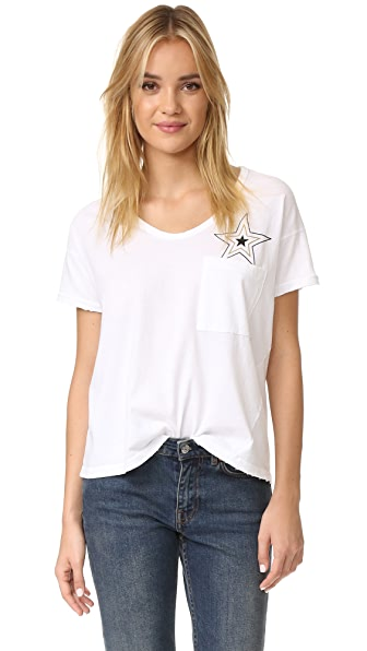 SUNDRY Loose Tee With Pocket Star