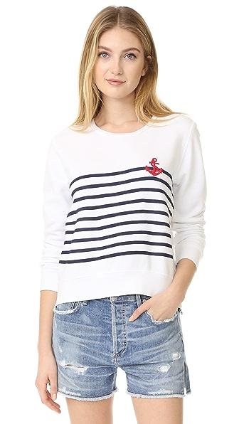 SUNDRY Stripes + Anchor Tee
