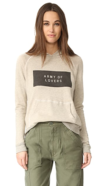SUNDRY Army Of Lovers Pullover Hoodie