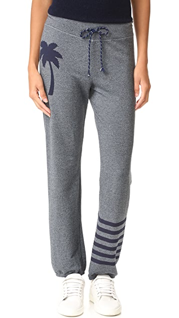 SUNDRY Palm Stripes Sweatpants