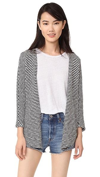 SUNDRY Striped Cardigan - Navy Stripe