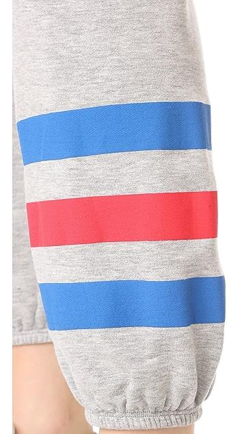 SUNDRY Heart Stripes Sweatpants