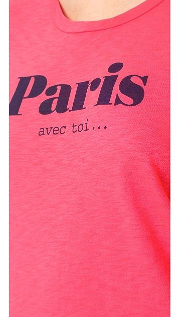 SUNDRY Paris Avec Toi Tee
