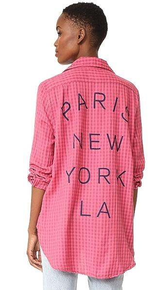 SUNDRY Paris NY LA Oversized Shirt