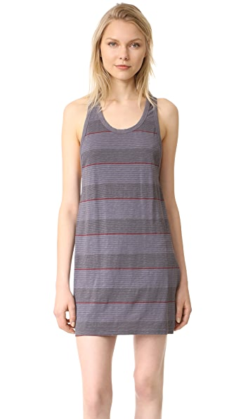 SUNDRY Tank Swing Dress - Charcoal