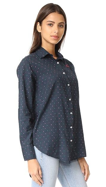 SUNDRY Love Patch Oversized Shirt