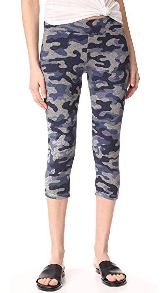 SUNDRY Yoga Capri Pants - Heather Grey