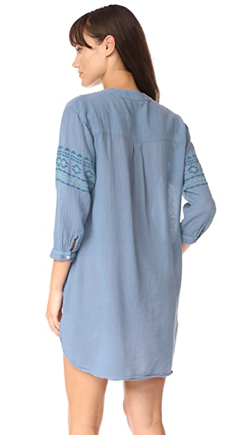 SUNDRY Tunic with Embroidery