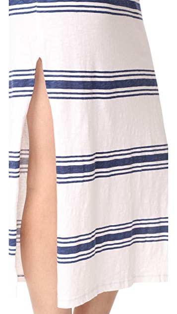SUNDRY Scoop Neck Maxi Dress