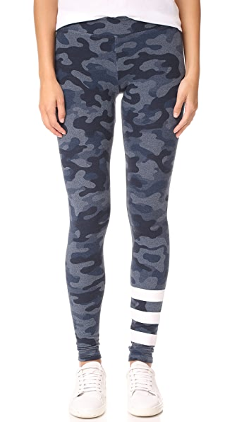 SUNDRY Stripes Yoga Pants - Camo