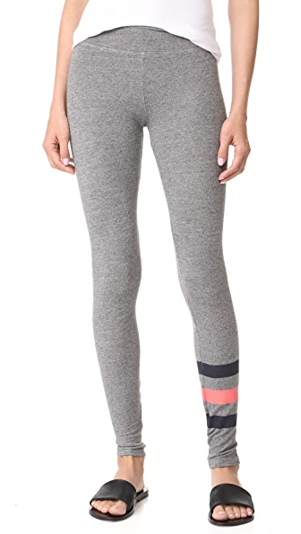 SUNDRY Stripes Yoga Pants - Heather Grey