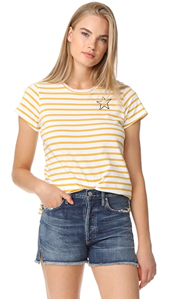SUNDRY Mini Star Short Sleeve Tee