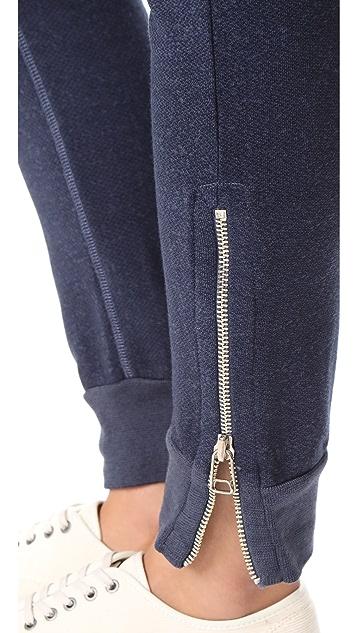 SUNDRY Slash Pocket Zipper Sweatpants