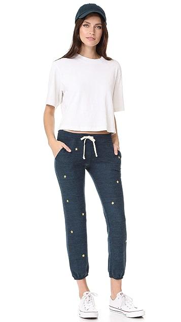 SUNDRY Star Patches Pocket Sweatpants