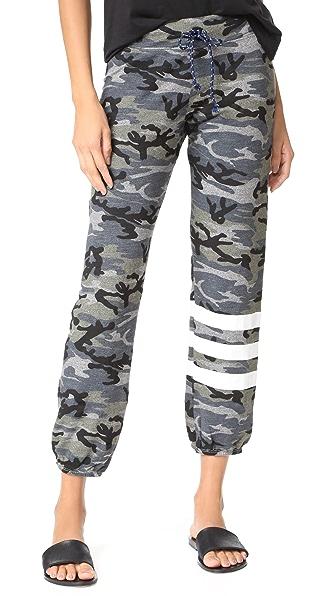 SUNDRY Stripes Sweatpants - Heather Grey