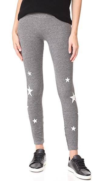 SUNDRY Stars Yoga Pants - Heather Grey