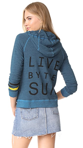 SUNDRY Live by the Sun Zip Hoodie - River