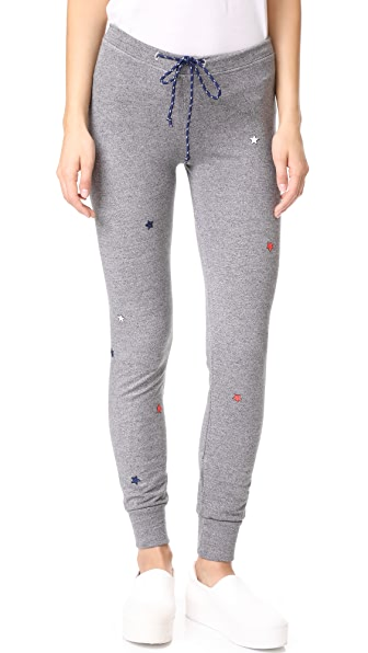 Star Patches Skinny Sweatpants