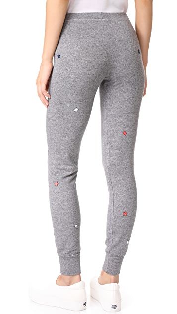 SUNDRY Star Patches Skinny Sweatpants