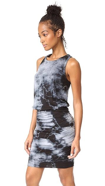 SUNDRY Tie Dye Sleeveless Dress