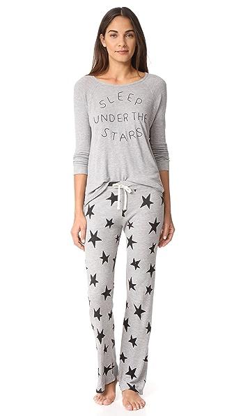 SUNDRY Sleep Under The Stars PJ Set